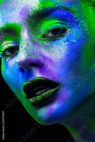 Fototapeta  Women's makeup as an art