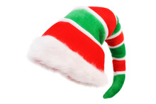 Cap Of The Christmas Elf. Isol...