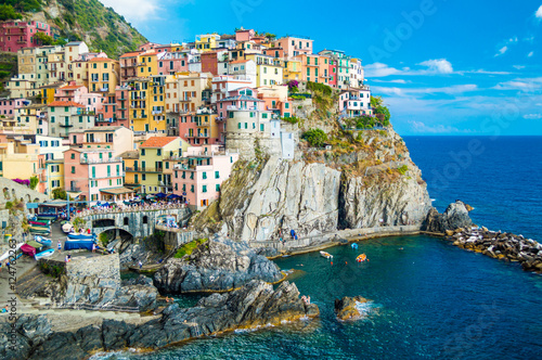 Aluminium Prints Europa Manarola landscape, Cinque Terre, Italy