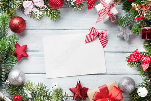 Spoed Foto op Canvas Chocolade Christmas background with greeting card