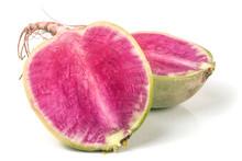 One Sliced Watermelon Radish I...
