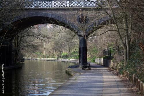 Poster Channel LONDON CANAL BRIDGE