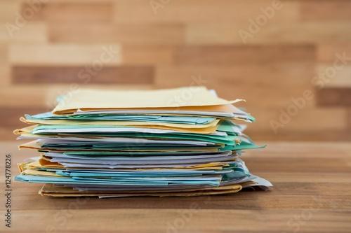 Fotografie, Obraz  Stack of files on table