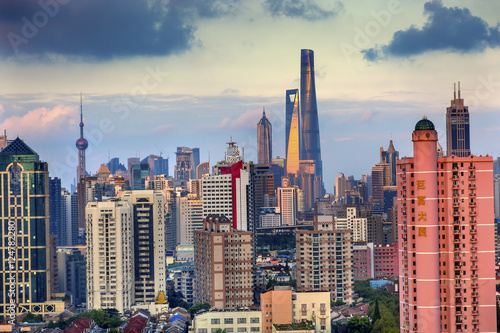 фотография  Puxi Pudong Buildings Skyscrapers Cityscape Shanghai China