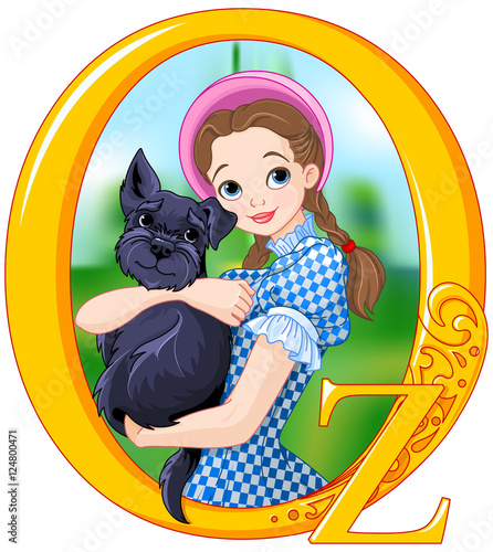 Canvas Prints Fairytale World Dorothy and Toto