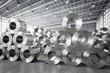 Leinwandbild Motiv roll of steel sheet in factory