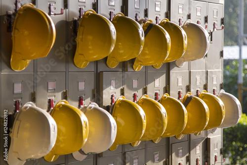 Fotografie, Obraz  Safety helmet hanging