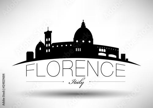 Slika na platnu Vector Graphic Design of Florence City Skyline