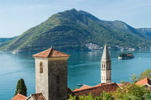 Old Town Perast, Church And Two Islands