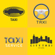 Taxi, cab set of vector logo, icon, background