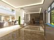 Modern design lobby with reception.