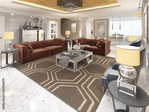 Luxury designer apartment studio in art deco style. u2013 kaufen sie