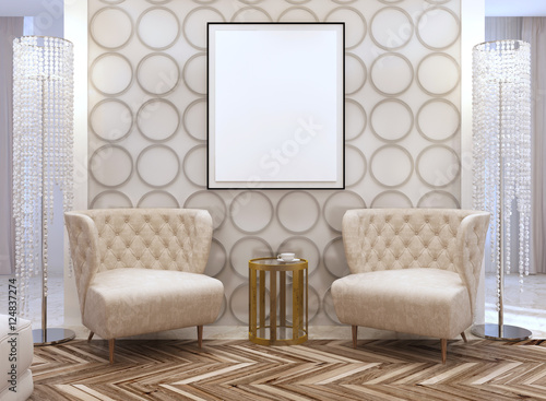 Seating Area In The Living Room In The Style Of Art Deco Kaufen