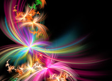 Fractal Abstract Firework Copy Space