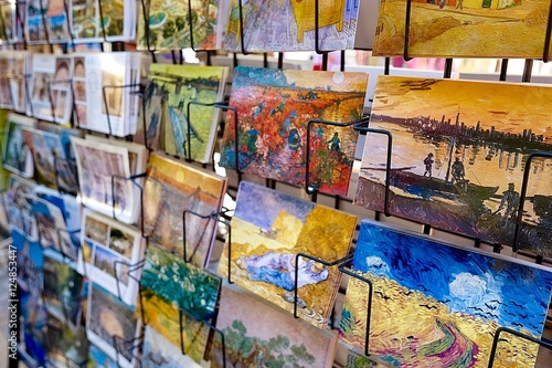 Postcards in a shop  Postcards of Van Gogh paintings in a