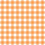 Seamless orange gingham pattern. Traditional background for tablecloths, banqueting rolls, placemats, napkins, drawer & shelf liners. Textile print for shirts, pajamas, bedding sets. - 124864224