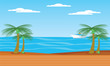 beach landscape illustration