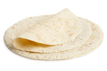Stack Of Tortilla Wraps And On...