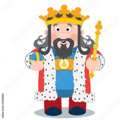 Fotografie, Obraz  King of clubs. Cartoon characters vector.