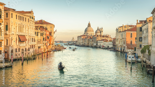 Poster Gondoles Venice Grand Canal at Sunset