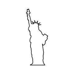 statue of liberty icon image vector illustration design
