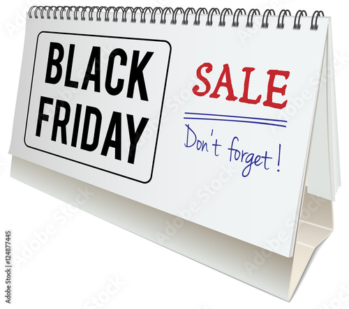 info for 90428 5050b black friday sale concept, desk calendar with black friday ...