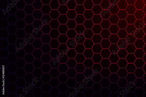 Stampa su Tela Background with hexagon texture