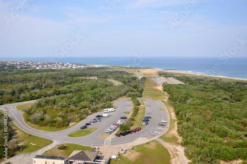 Fotografie, Obraz  Town of Buxton in Cape Hatteras, from Cape Hatteras Lighthouse in Cape Hatteras