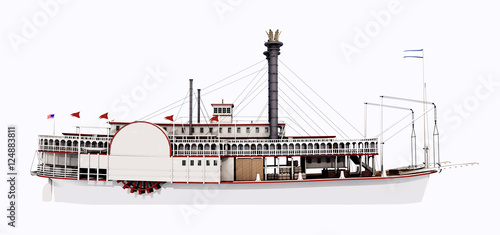 Steamboat of the Mississippi – Side view Wallpaper Mural