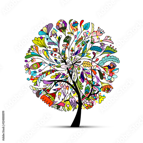 Fototapeta Art tree beautiful for your design