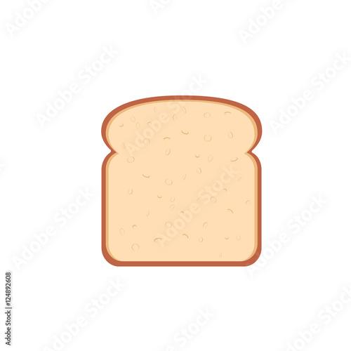 Foto flat design single bread slice