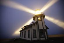 Lighthouse N Light Beams