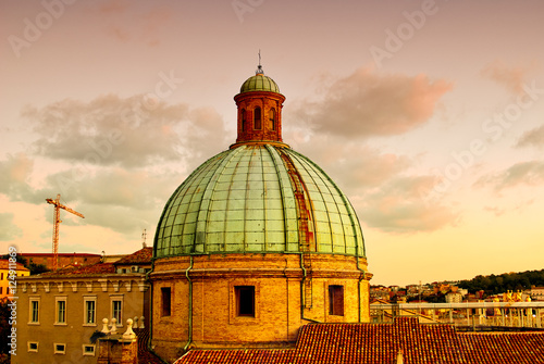 Deurstickers Toscane dome of Cathedral sunset Ancona Italy