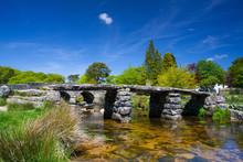 The Ancient Clapper Bridge At ...