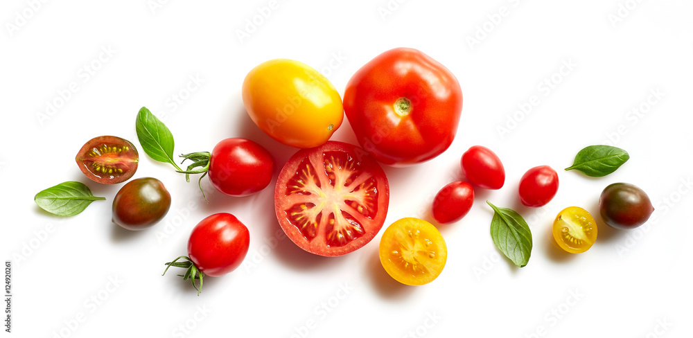 Fototapety, obrazy: various colorful tomatoes