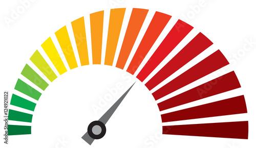 Cuadros en Lienzo vector dashboard speedometer icon