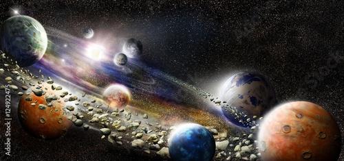 Canvas Print Alien solar system