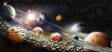Fototapeta Kosmos - Alien solar system
