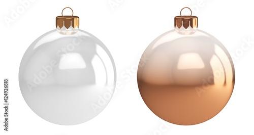 Weihnachtskugeln Weiß.Set Weihnachtskugeln Weiß Buy This Stock Illustration And