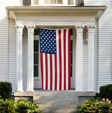 American Flag Displayed On The...