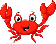 Funny Cartoon Crab For You Des...