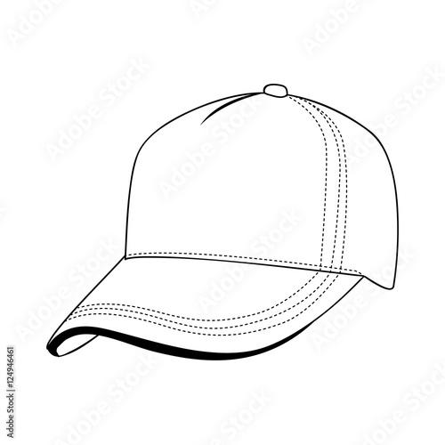 baseball cap icon image vector illustration design Poster