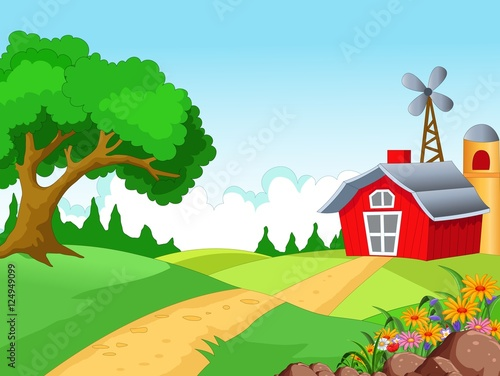 Farm background for you design