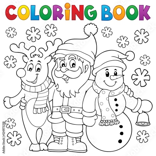 Wall Murals For Kids Coloring book Christmas characters
