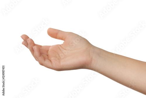offene Hand einer jungen Frau Canvas-taulu