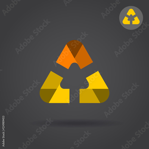 Delta Letter Icon With Smooth Rounded Edges Buy This Stock Vector