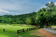 Landscape at camping area Kaeng Krachan National Park , dam Kaeng Krachan, phetchaburi,Thailand.