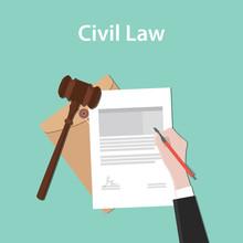 Civil Law Illustration Concept...