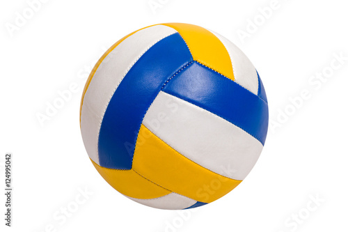 In de dag Bol Volleyball Ball Isolated on White Background