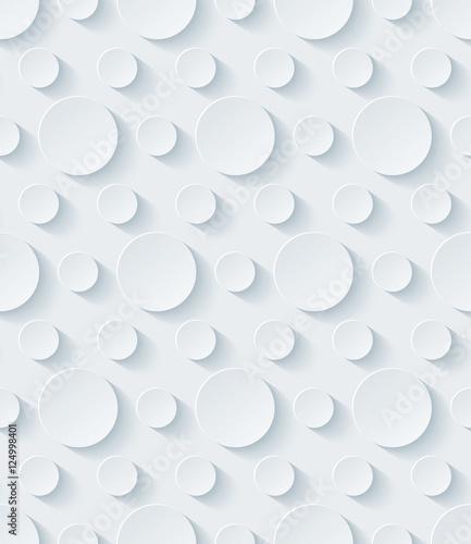 Obrazy wieloczęściowe Biały papier perforowany